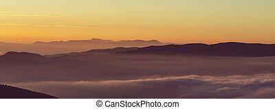 Mountains silhouette - Mountain silhouette
