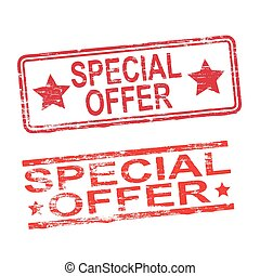 Special Offer Stamps - Special offer grungy rubber stamp...