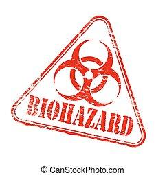 Triangular Biohazard Stamp