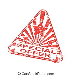 Triangular Special Offer Stamp