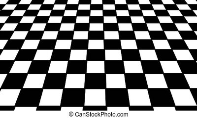 Virtual floor chess background. Seamless loop
