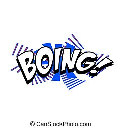 Cartoon Vector Boing - Cartoon boing sound colorful text...