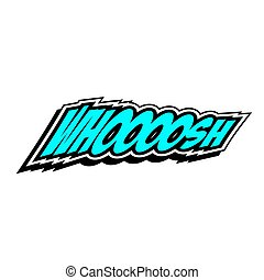 Cartoon Vector Whoosh - Cartoon whoosh colorful text caption...