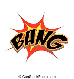 Cartoon Vector Bang - Exploding cartoon bang text caption...