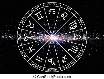 Star Signs Zodiac - Signs of the zodiac on galaxy background