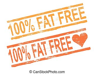 100 Percent Fat Free Stamp