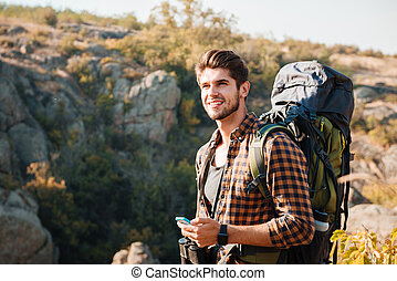 Tourist in the mountains