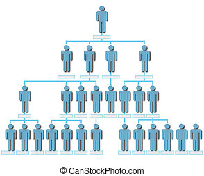 Organization corporate hierarchy chart people shadow -...