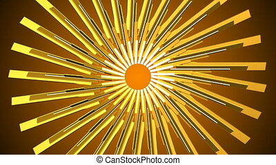 Abstract gold element. Seamless loop