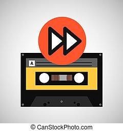 forward music cassette tape vector illustration eps 10