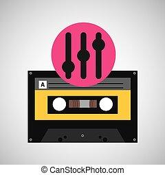 equalizer music cassette tape vector illustration eps 10