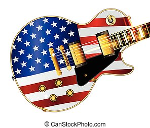 Old Glory Flag Guitar - The definitive rock and roll guitar...