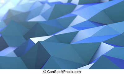 Abstract Polygons Waves Perfect Background - Polygons Waves...