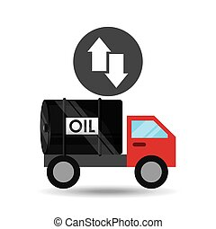 tank truck oil growth low arrow vector illustration eps 10