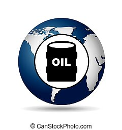 world oil industry consumption oil barrel vector...