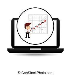 businessman oil technology economic graph