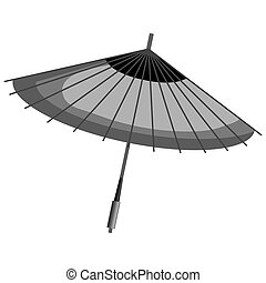 japanese umbrella culture icon