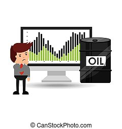 oil and petroleum industry worried businessman price falls...
