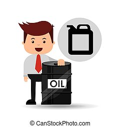 businessman oil industry barrel gallon