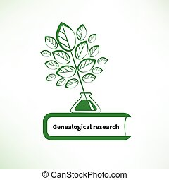 Genealogical research logo - Genealogical research. Vector...