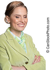 Portrait of young woman - Portrait of smiling young woman...