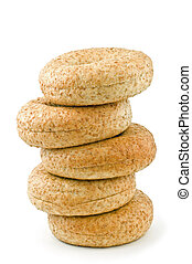Low fat bagels - Body conscious low fat, whole grain wheat...