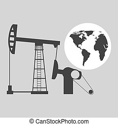 world oil industry consumption pumping tower vector...