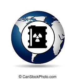 world oil industry consumption nuclear barrel vector...