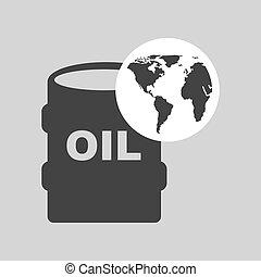 world oil industry consumption oil barrel vector...