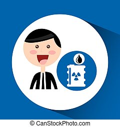 businessman oil concept radioactive material