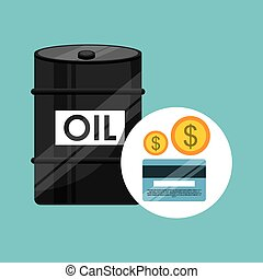 barrel oil concept banking dollar vector illustration eps 10