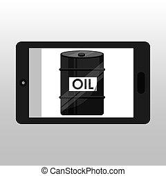 business oil barrel smartphone