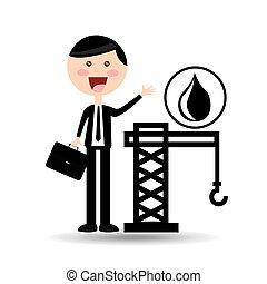 businessman oil concept tower petroleum vector illustration...