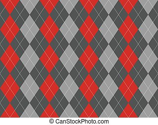 Gray argyle seamless pattern