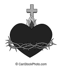 sacred Heart of Jesus vector illustration design