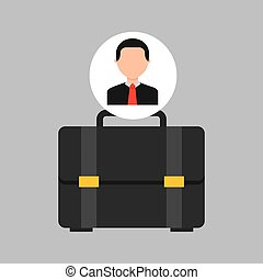 businessman movie portfolio business icons vector...