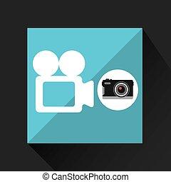 retro camera photographic record video