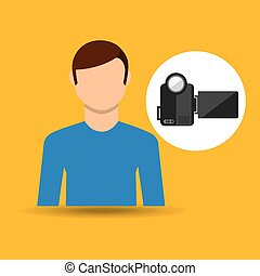 character man movie concept video camera