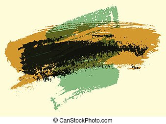 Hand drawn painting brush strokes stain abstract background....