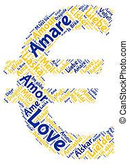 Euro, miłość, znak