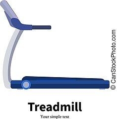 Vector illustration training apparatus treadmill