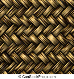 wicker basket weave - heavy brown weave of brown wicker...