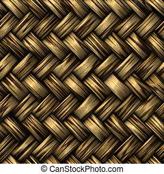 wicker basket weave - heavy brown weave of brown wicker...