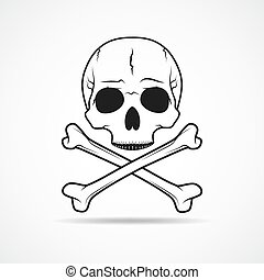 Skull and crossbones. Vector illustration