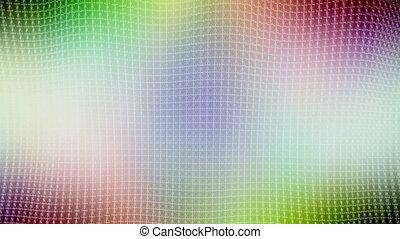 Ripple lattice multi color looping background - Animated...