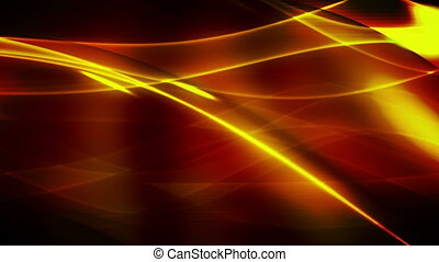 Flowing orange looping abstract background