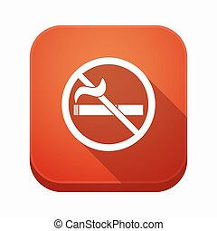 Isolated app button with a no smoking sign - Illustration of...