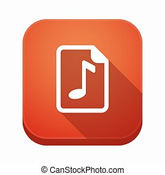 Isolated app icon with a music score - Illustration of an...