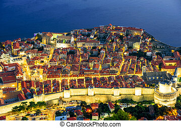 Aerial view of Dubrovnik old town