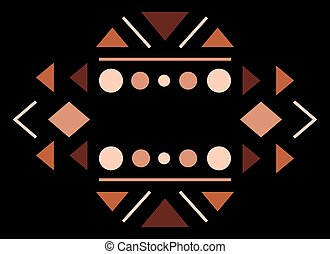 Traditional culture inspired simple geometric symbol. -...